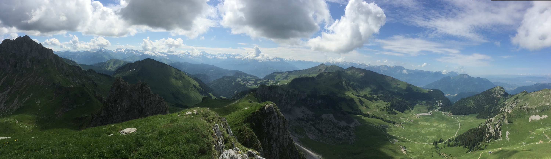 Vue à 360° depuis le sommet de Chavasse. Un vrai régal !